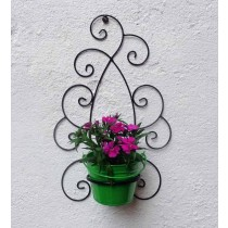 Decorative Design Wall Bracket with Bucket Planter