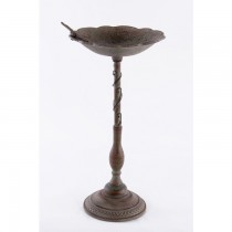 Decorative Dragonfly Design Cast Iron Bird Bath