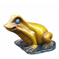 Decorative Fiberglass Frog Sculpture