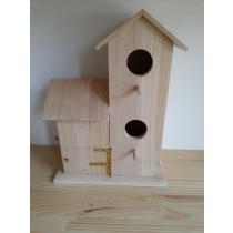 Decorative Fir Wood Bird House 30.5x23x14