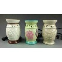 Decorative Floral Carving Electric Wax Warmer Oil Burner(Set Of 3)