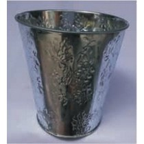 Decorative Galvanized  Metal Embossed Planter