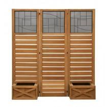 Decorative Garden Screen with Planter Boxes
