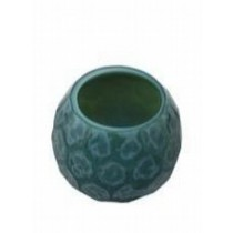 Decorative Glass Pepal Green Candle Holder