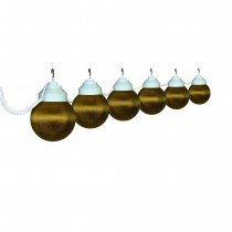 Decorative Globe White and Bronze String Light Set