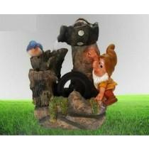 Decorative Gnome & Bird Water Fountain