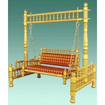 Decorative Golden Traditional Garden Swing