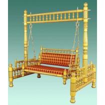 Decorative Golden Traditional Garden Swing