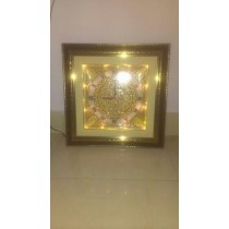 Decorative  Golden Work Wall Clock With Led Light
