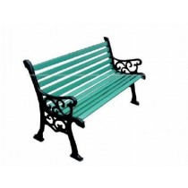 Decorative Green Cast Iron Bench