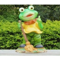 Decorative Green Frog With Mop