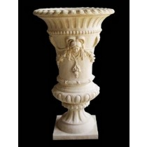 Decorative Hand Carved Lady Design Flowerpot