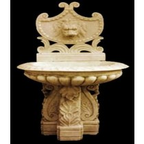Decorative Hand Carved Lion Face Sandstone Fountain
