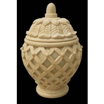 Decorative Hand Carved Sandstone Jar Garden Lamp