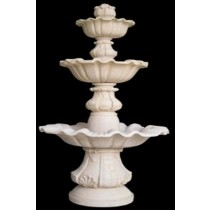 Decorative Hand Carved Three Tiered Water Fountain