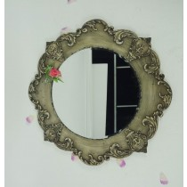 Decorative Hand Curved Metal Wall Mirror