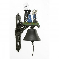 Decorative Hand Painted Iron Garden Bell