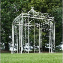 Decorative Handmade White Finish Metal Gazebo