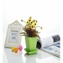 Decorative Highlight Green Color Square Pot
