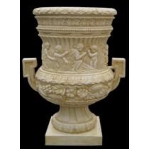 Decorative Human & Floral Carved Design Flowerpot