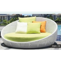 Decorative Large Pool Side Bed With Cushion & Pillow