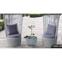 Decorative Light Purple Lounge Seating Set(2 Chair +1 Table )