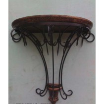 Decorative Mango Wooden & Iron Big Wall Bracket