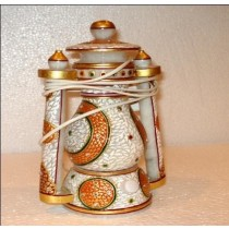 Decorative Marble Electric Lantern In Meenakari