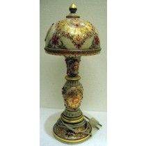 Decorative Marble Table  Lamp In Gold Work