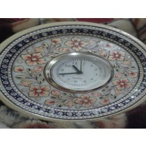 Decorative Marble Watch In Round Plate