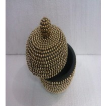 Decorative Metal Ball With Wooden Medium Jewellery Box