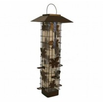 Decorative Metal Finish Bird Feeder