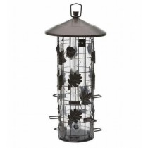 Decorative Metal Leaves Design Hanging Bird Feeder