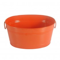 Decorative Metal Oval Beverage Party Tub