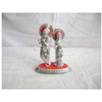 Decorative Metal Radha Krishna Idols 6 Inch