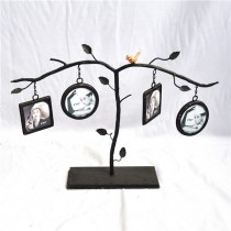Decorative Metal Stand With Hanging Photo Frame