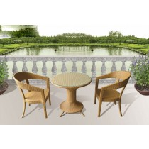 Decorative Modern PE Rattan Dinning Set(2 Chair + 1 table)