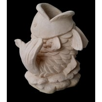 Sandstone Open Mouth Fish Shape Water Fountain