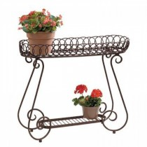 Decorative Oval Rings Metal Plant Stand