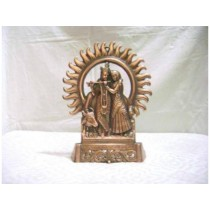 Decorative Radha Krishna Idol 10""
