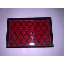 Decorative Red Hand Printed Wooden Photo Frame