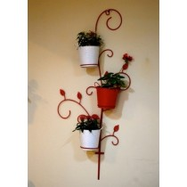 Decorative Red Tree 3 Wall Pot Holder