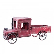 Decorative Red Vintage Car Shaped Planter Stand
