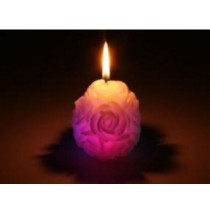 Decorative Rose Design Color Changing LED Candle