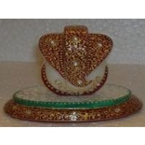 Decorative Round Base With Ganesha Idol