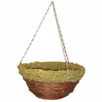 Decorative Round Hanging Planter with Steel Chain