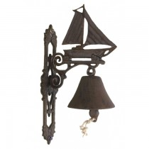 Decorative Rustic Cast Iron Boat Design Garden Bell