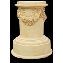 Decorative Sandstone Floral Roman Style Pedestal