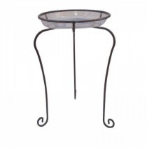Decorative Silver Metal Plant Stand