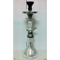 Decorative Silver Mirror Mosaic Hookah